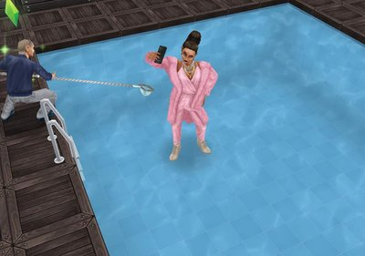 she even took /selifies/ standing on water!! XD